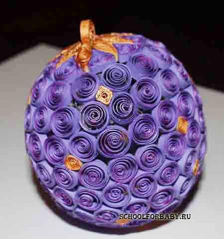 Как сделать шар из квиллинга - Pr-trend.Ru